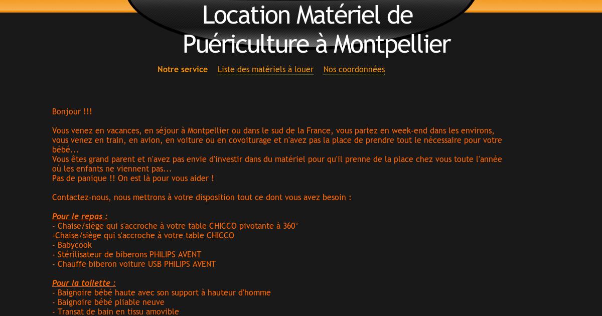 Location Materiel De Puericulture A Montpellier
